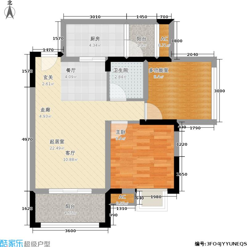 兴茂晶蓝公馆53.79㎡二期A4号房面积5379m户型