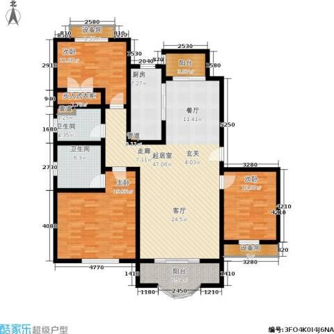 博泰景苑3室0厅2卫1厨140.00㎡户型图