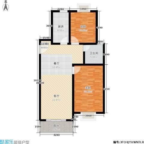 上大阳光乾和园2室0厅1卫1厨110.00㎡户型图