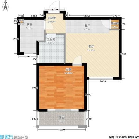 瑞金尊邸1室0厅1卫1厨62.00㎡户型图
