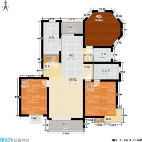 文翔名苑3室0厅2卫1厨162.00㎡户型图