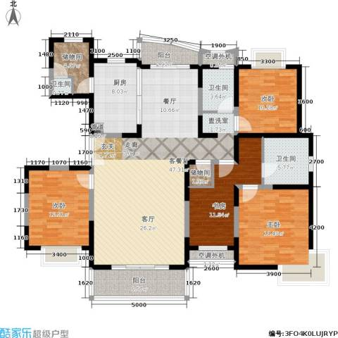 第五大道东方中华园4室1厅3卫1厨191.00㎡户型图