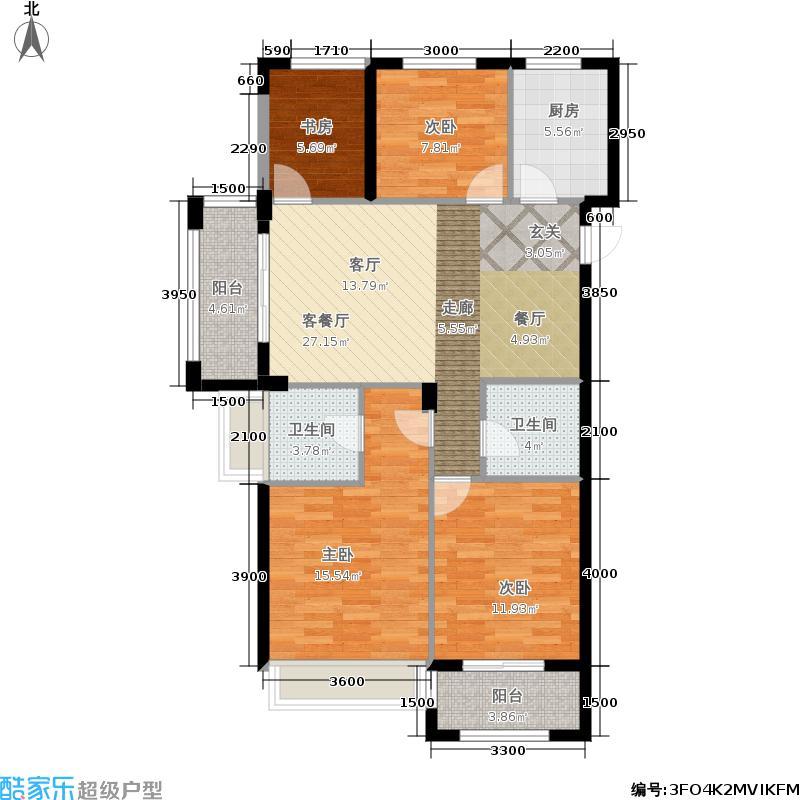 浙旅萍水街一号113.00㎡A3户型4室2厅2卫