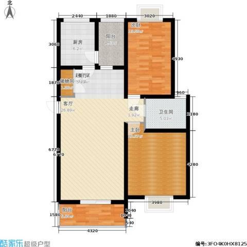 文翔名苑2室0厅1卫1厨122.00㎡户型图