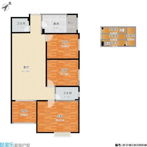 联盟新城4室1厅2卫1厨166.00㎡户型图