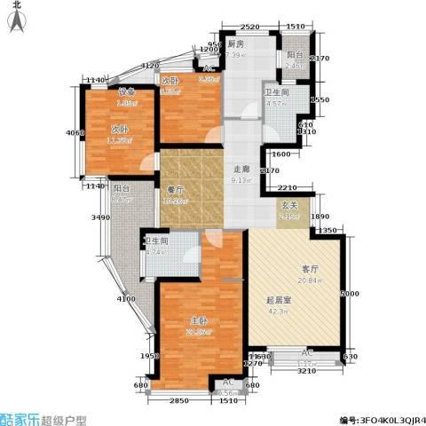 金地格林世界布鲁斯郡3室0厅2卫1厨166.00㎡户型图