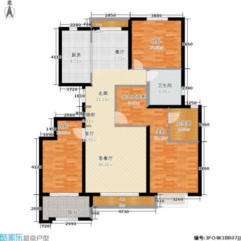 惠腾公寓3室1厅2卫1厨137.00㎡户型图