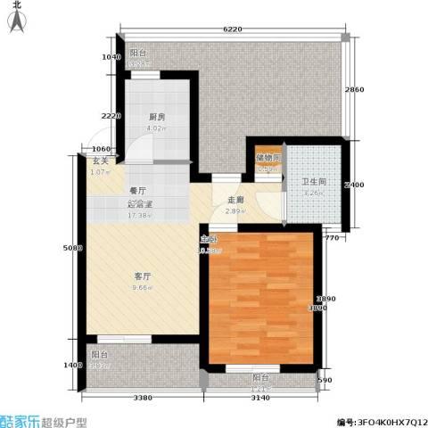 文翔名苑1室0厅1卫1厨80.00㎡户型图