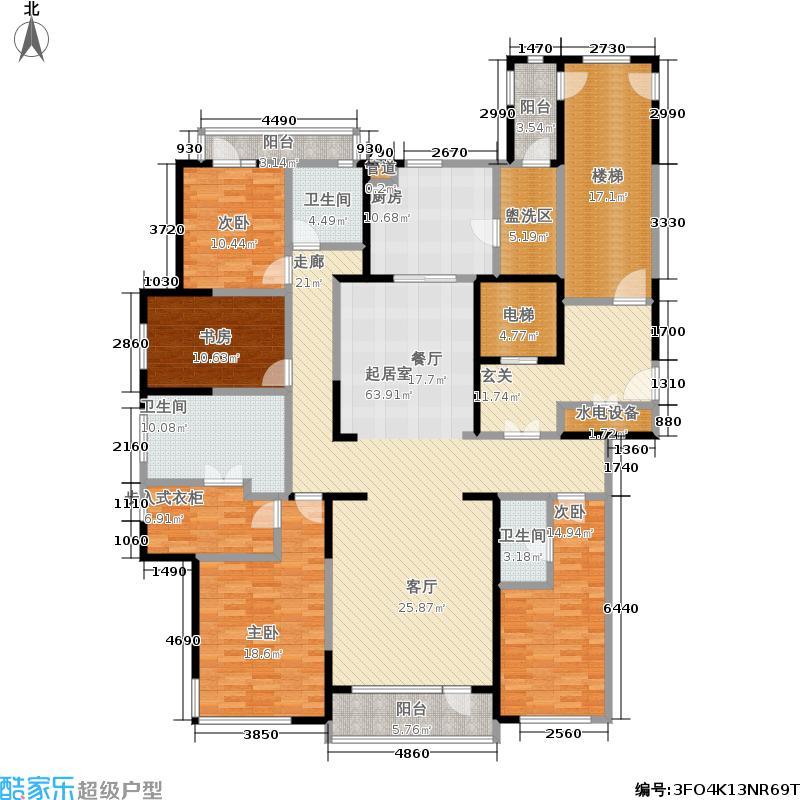 万科金域蓝湾235.00㎡A29#户型4室2厅