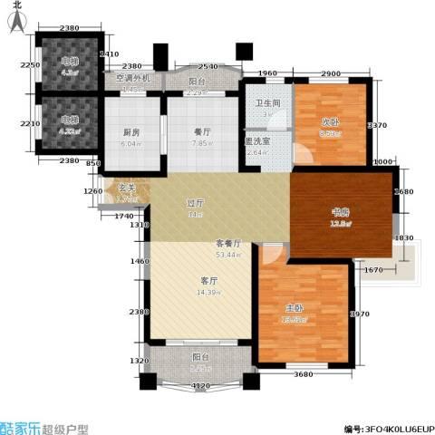 宝宸怡景园2室1厅1卫1厨117.00㎡户型图