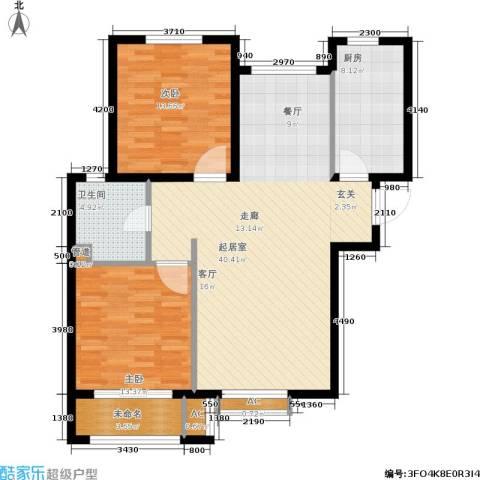 安联水晶坊2室0厅1卫1厨96.00㎡户型图