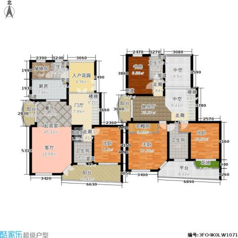 大华锦绣华城第16街区4室0厅4卫1厨232.00㎡户型图