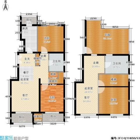 住总尚清湾2室0厅2卫1厨172.63㎡户型图