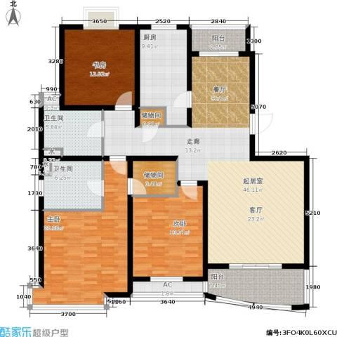 城市艺术季3室0厅2卫1厨151.00㎡户型图