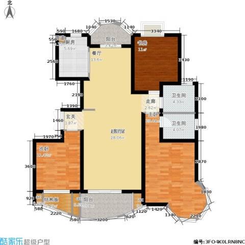 翡翠上南3室0厅2卫1厨132.00㎡户型图
