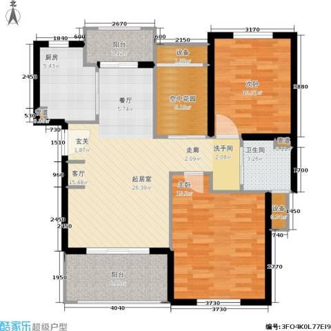 东方帕堤欧花园小城2室0厅1卫1厨89.00㎡户型图