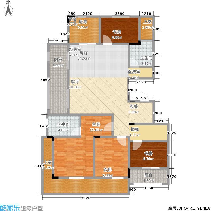 楚天都市雅园156.51㎡9A-1户型4室2厅