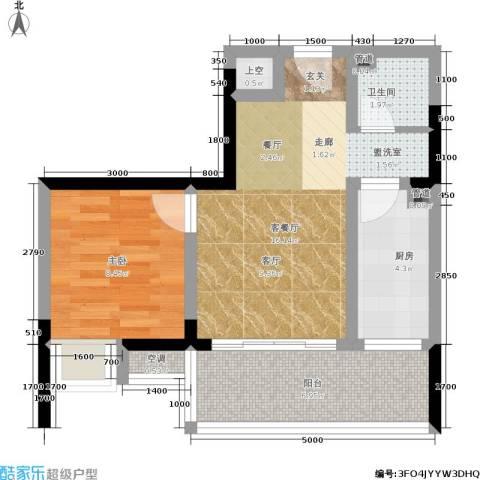 香堤花径1室1厅1卫1厨41.00㎡户型图