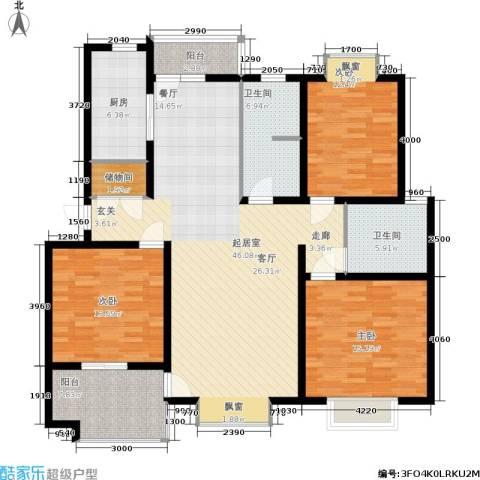 翡翠上南3室0厅2卫1厨135.00㎡户型图