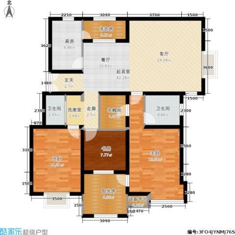 天房天和园3室0厅2卫1厨141.00㎡户型图