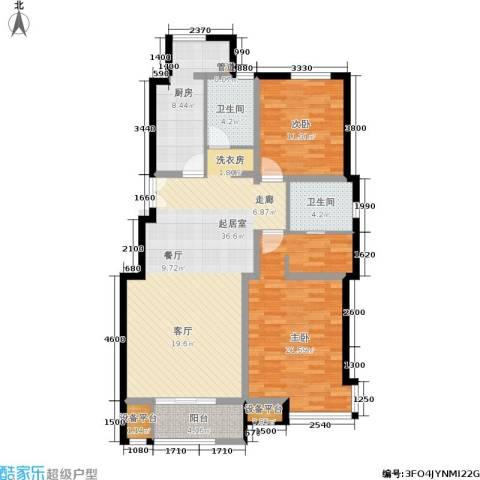 天房天和园2室0厅2卫1厨111.00㎡户型图