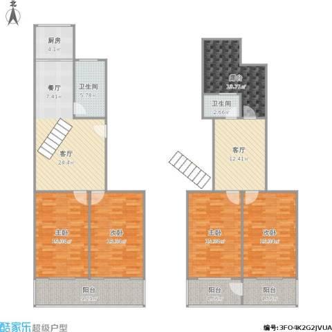 正泰花苑4室2厅2卫1厨188.00㎡户型图
