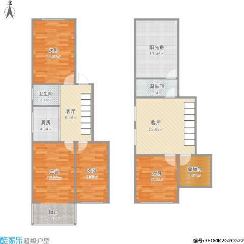 南苑贡园4室2厅2卫1厨131.00㎡户型图