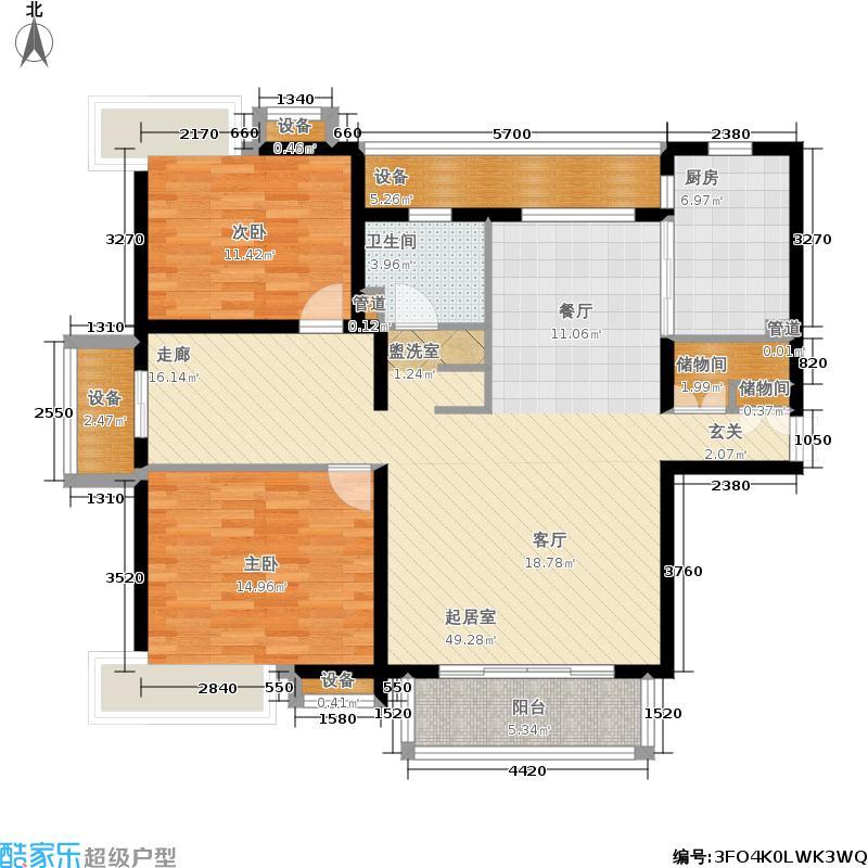 地杰国际城119.00㎡上海面积11900m户型