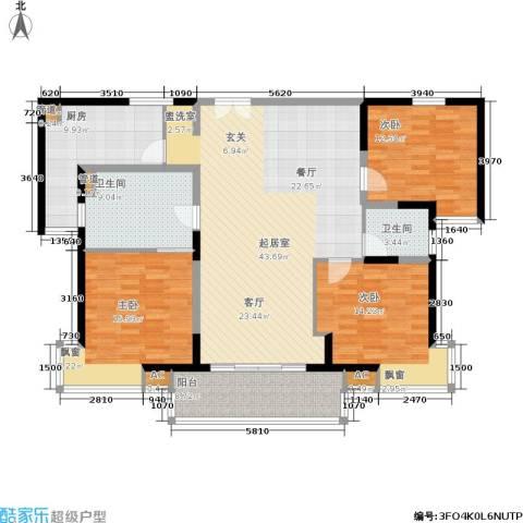世博花园3室0厅2卫1厨135.00㎡户型图