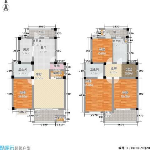 正阳世纪星城4室0厅3卫1厨160.00㎡户型图