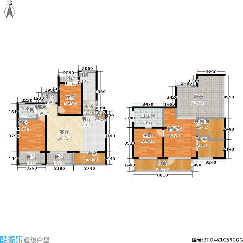 BDA样本178.52㎡A单元A64室面积17852m户型