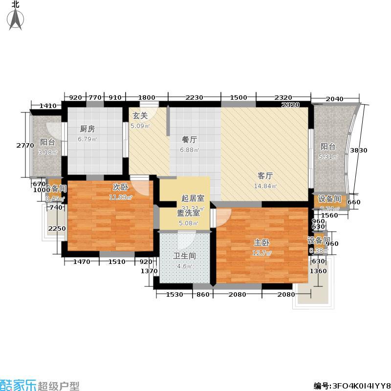 博泰景苑88.00㎡面积8800m户型