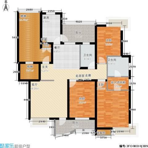 博泰景苑3室0厅2卫1厨151.00㎡户型图