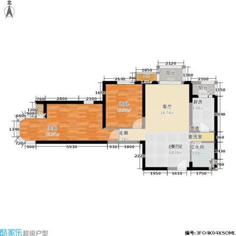 珠江峰景2室0厅1卫1厨106.00㎡户型图