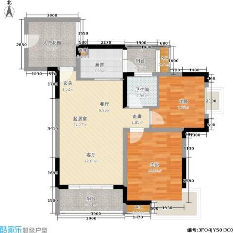 众科天一阁2室0厅1卫1厨98.00㎡户型图