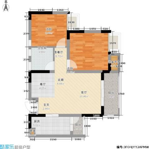 上城奥邻2室1厅1卫1厨84.00㎡户型图