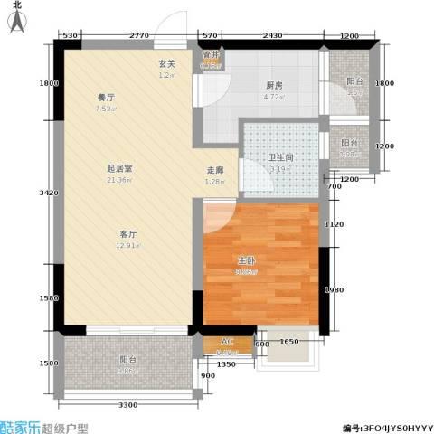 众科天一阁1室0厅1卫1厨65.00㎡户型图