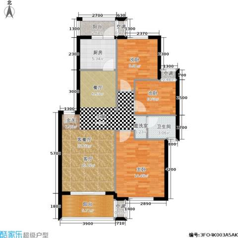 龙脊花园3室1厅1卫1厨141.00㎡户型图