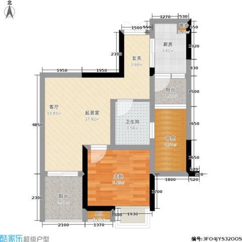 建工锦绣华城1室0厅1卫1厨44.74㎡户型图