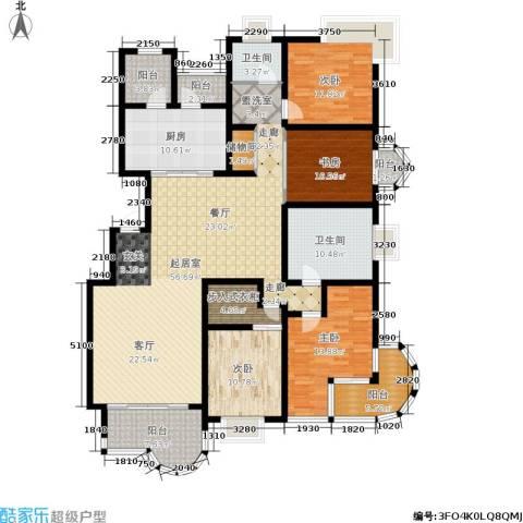 大上海国际花园4室0厅2卫1厨178.00㎡户型图