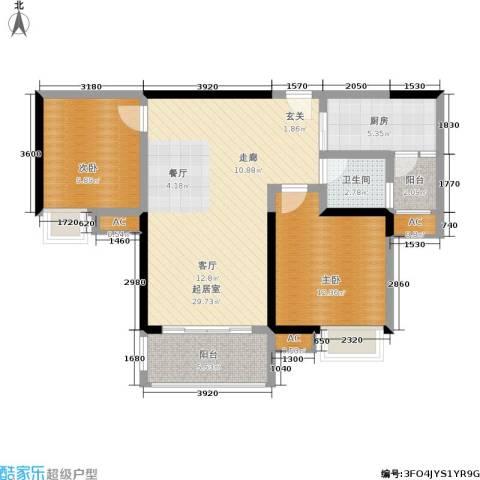 聚慧雅苑2室0厅1卫1厨101.00㎡户型图