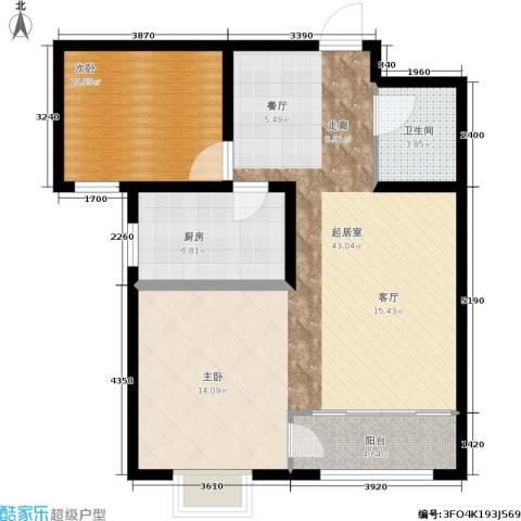 天润国际城1室0厅1卫1厨78.00㎡户型图