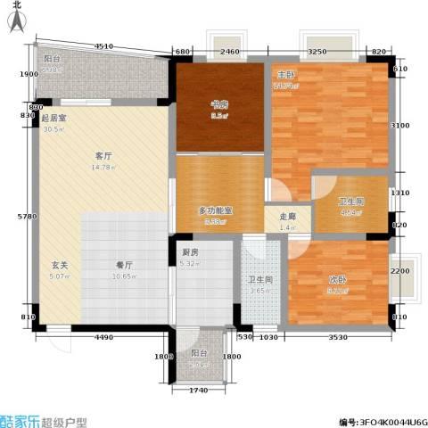 兴宇花园3室0厅2卫1厨110.00㎡户型图