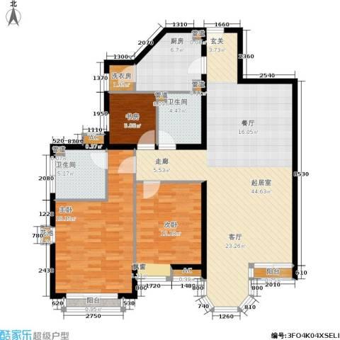 珠江峰景3室0厅2卫1厨144.00㎡户型图