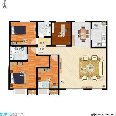 御景水城4室1厅2卫1厨161.00㎡户型图