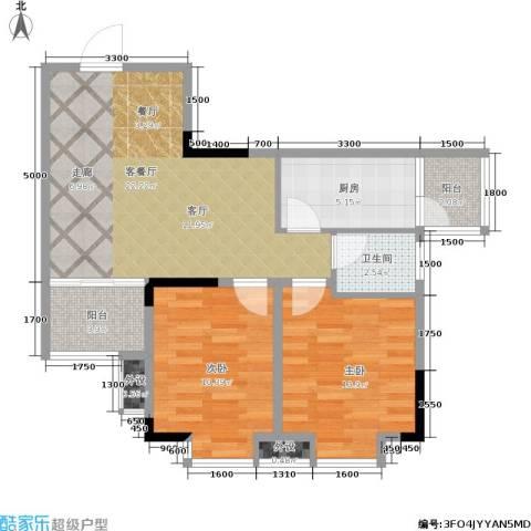 革新村2室1厅1卫1厨82.00㎡户型图