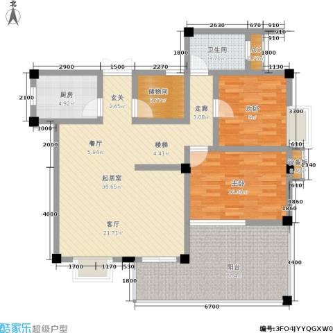 江南水乡2室0厅1卫1厨121.00㎡户型图