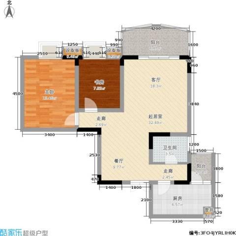 加州花园2室0厅1卫1厨154.00㎡户型图