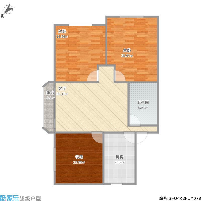 东南向97平三室一厅