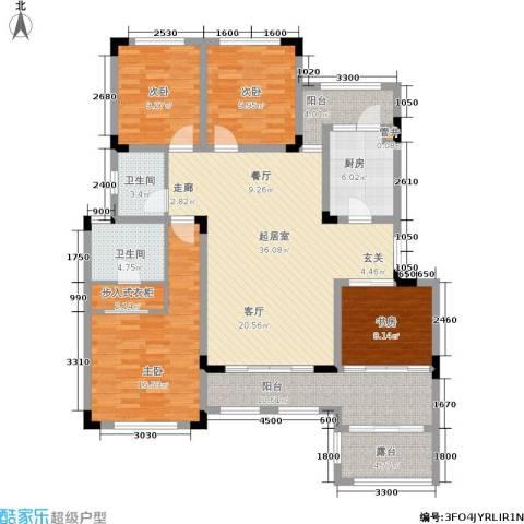 加州花园4室0厅2卫1厨151.00㎡户型图